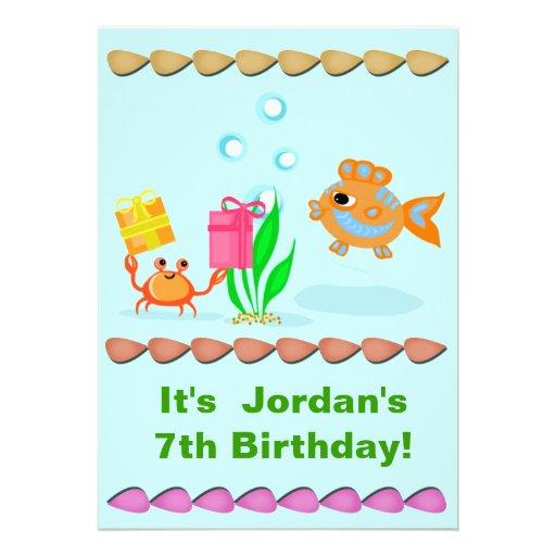 Beställnings- barnfödelsedagsfest inbjudan