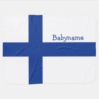 Beställnings- bebisfilt för finlandssvensk flagga