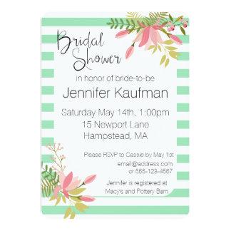 Beställnings- blom- rand som gifta sig den | 12,7 x 17,8 cm inbjudningskort