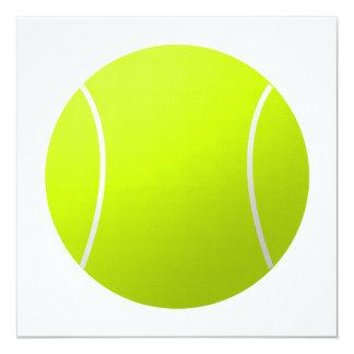 Beställnings- boll för personligtexttennis fyrkantigt 13,3 cm inbjudningskort