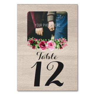 Beställnings- bord för sjaskigt bröllop för bordsnummer