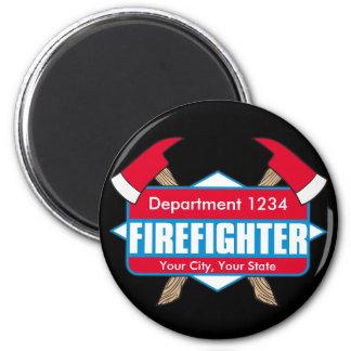 Beställnings- brandman med yxor magnet