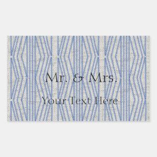 Beställnings- bröllop för tyg för grå färg för rektangulärt klistermärke