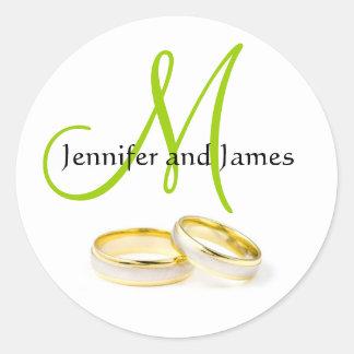 Beställnings- December bröllop namnger Runt Klistermärke