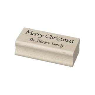 Beställnings- efternamngod julglad helg gummistämpel