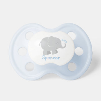 Beställnings- elefant för blått och för grått för napp