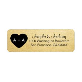 Beställnings- elegant guld- returadress etikett