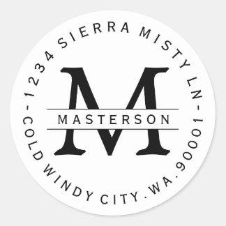 Beställnings- etikett för runt klistermärke
