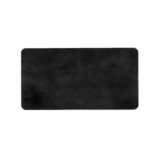Beställnings- etikett - svart tavla adressetikett