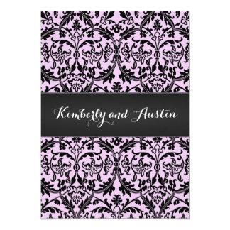 Beställnings- färg A03 Corfu för rosa damastast 12,7 X 17,8 Cm Inbjudningskort