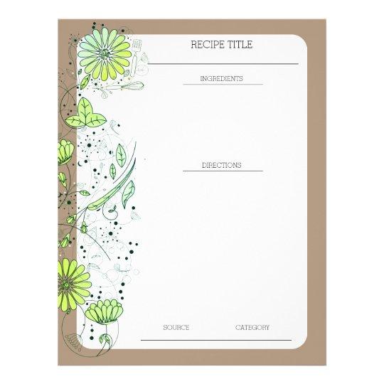 Beställnings- färg blommar brevhuvud