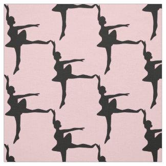 Beställnings- färg för BallerinaSilhouette Tyg