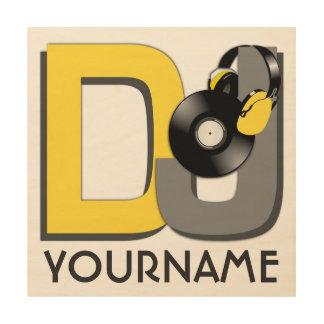 Beställnings- färg för DJ & monogramträkanfas Trätavla