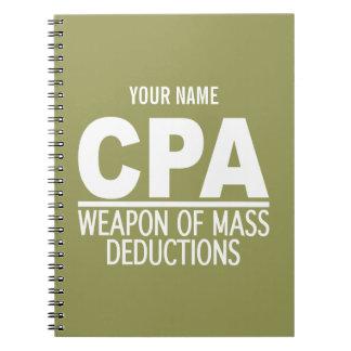Beställnings- färganteckningsbok för CPA Anteckningsbok