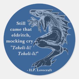 Beställnings- färgH.P. Lovecraft Citering Runt Klistermärke