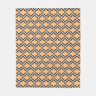 Beställnings- filt 1 för ull för färgQuatrefoil