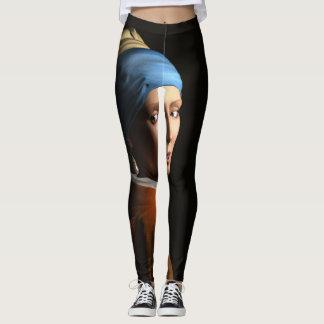Beställnings- flicka med damasker för ett leggings