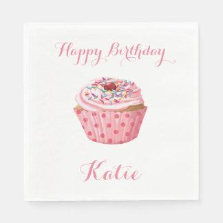 Beställnings- födelsedagservetter, för rosor pappersservett