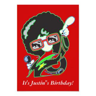 Beställnings- födelsedagsfestinbjudan 12,7 x 17,8 cm inbjudningskort