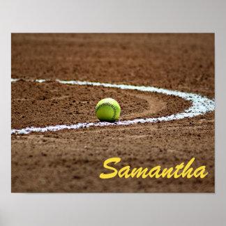 Beställnings- för softballfoto för spelare eller poster