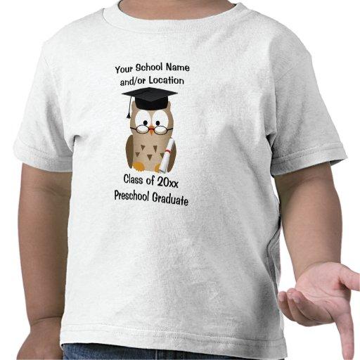 Beställnings- förskole- studentenT-tröja, klok ugg
