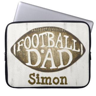 Beställnings- fotbollpappa/fars daglaptop sleeve laptop datorskydd