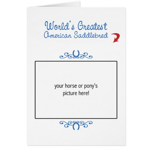 Beställnings- foto! Mest underbar amerikan Saddleb Kort
