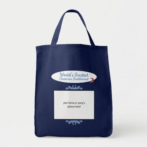 Beställnings- foto! Mest underbar amerikan Saddleb Tote Bags