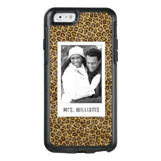 Beställnings- foto- & namnLeopardpäls OtterBox iPhone 6/6s Skal