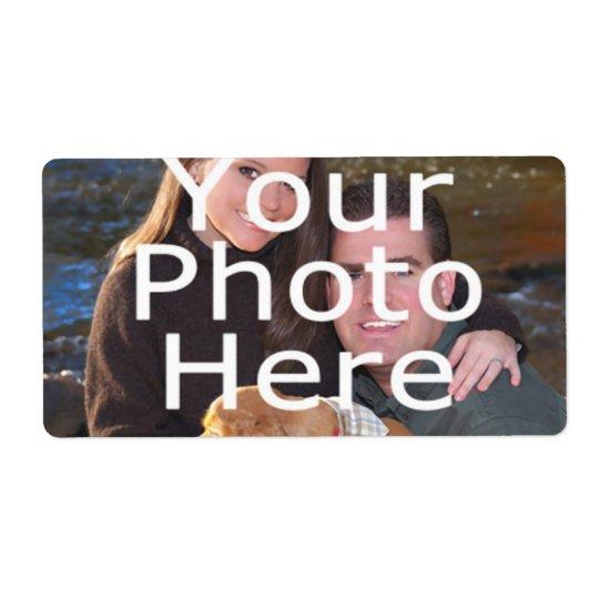 Beställnings- fotoetiketter fraktsedel