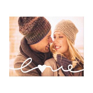 Beställnings- fotokanfas | räcker märkt kärlek canvastryck