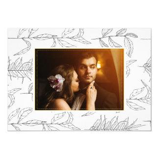 Beställnings- fotokort för bröllop 12,7 x 17,8 cm inbjudningskort