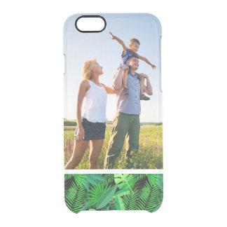 Beställnings- fotolöv av tropiska palmträd clear iPhone 6/6S skal