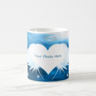 Beställnings- fotomugg - ängel av hjärtan kaffemugg