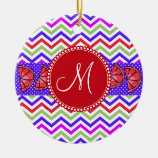 Beställnings- gåvor för grapefrukt för julgransprydnad keramik