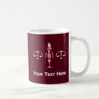 Beställnings- geometrisk kvinnlig advokat kaffemugg