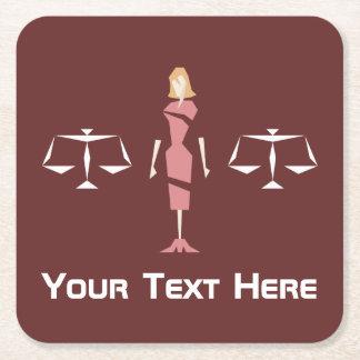 Beställnings- geometrisk kvinnlig advokat underlägg papper kvadrat