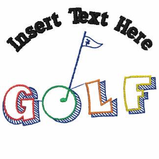 Beställnings- Golf broderad skjorta Pikétröjor