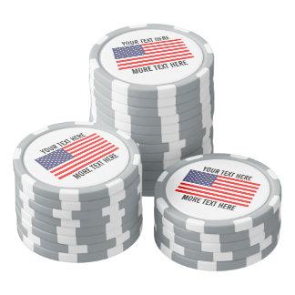 Beställnings- golfbollmarkörer - patriotisk poker marker
