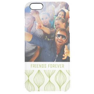 Beställnings- grönt Ogee för foto & för text Clear iPhone 6 Plus Skal
