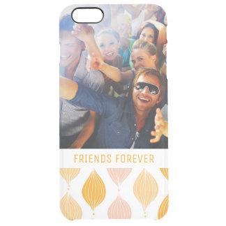 Beställnings- guld- Ogee för foto & för text Clear iPhone 6 Plus Skal