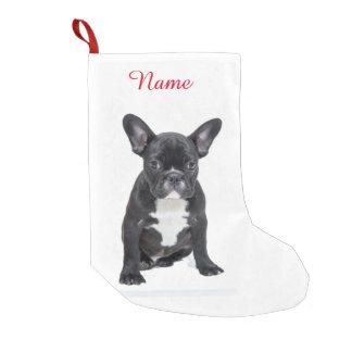 Beställnings- gullig fransk bulldoggvalp liten julstrumpa