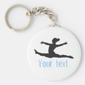 Beställnings- gymnastikdansjubel Keychains Rund Nyckelring