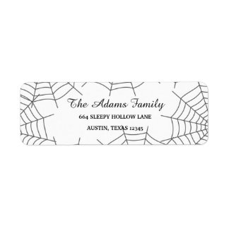 Beställnings- Halloween för personlig spindelnät Returadress Etikett