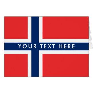 Beställnings- hälsningkort för norsk flagga hälsningskort