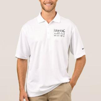 Beställnings- Hashtag världs bäst skjorta för Nike Polo Tröja