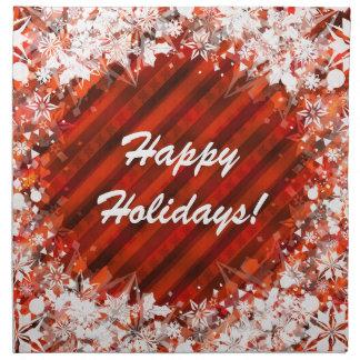 Beställnings- helgdag/servetter för jultrasamiddag tygservett