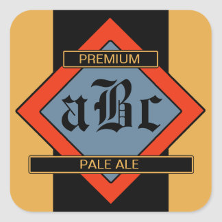 Beställnings- hemlagade öl-/vinetiketter fyrkantiga klistermärken