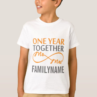 Beställnings- Herr och Fru 1st årsdag Tee Shirts