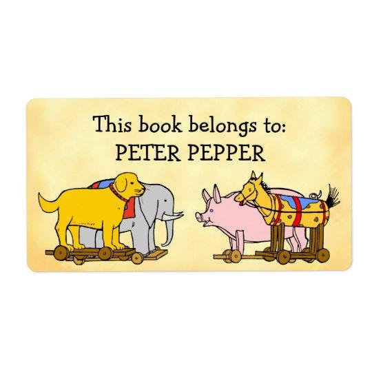 Beställnings- hund, häst och gris för fraktsedel